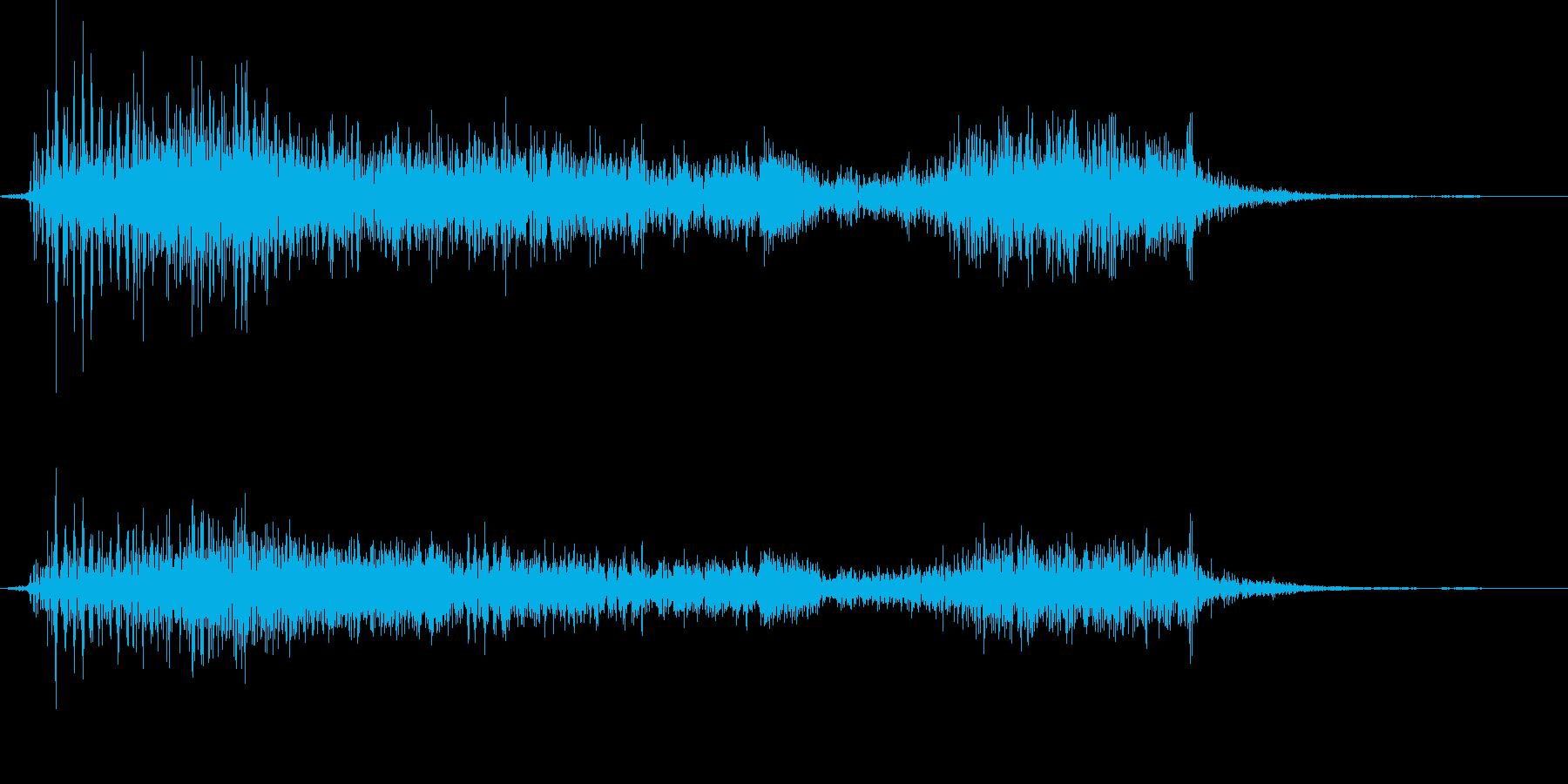 ブチューとキスの再生済みの波形
