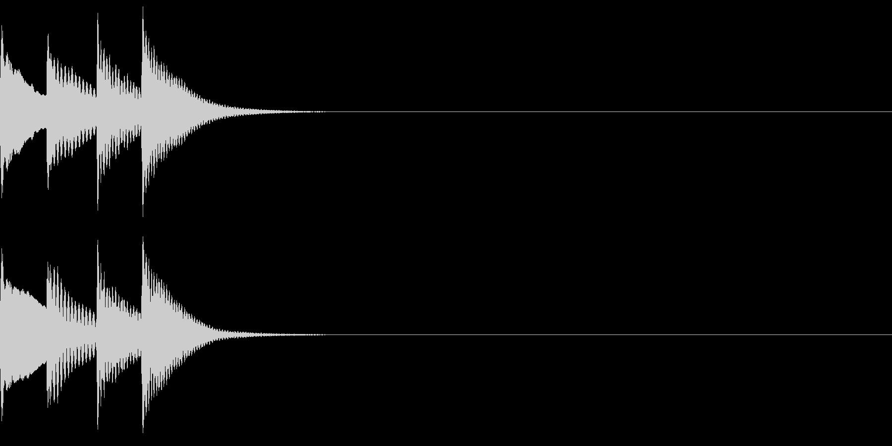 軽快なシーン切替、人物リアクション07の未再生の波形