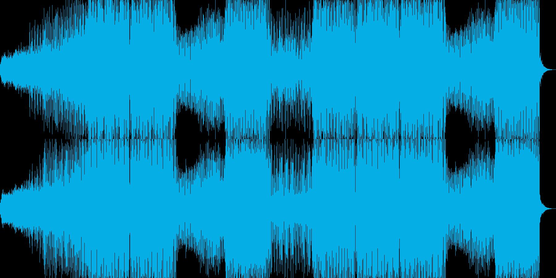 エネルギッシュでファンキーなダンス音楽の再生済みの波形