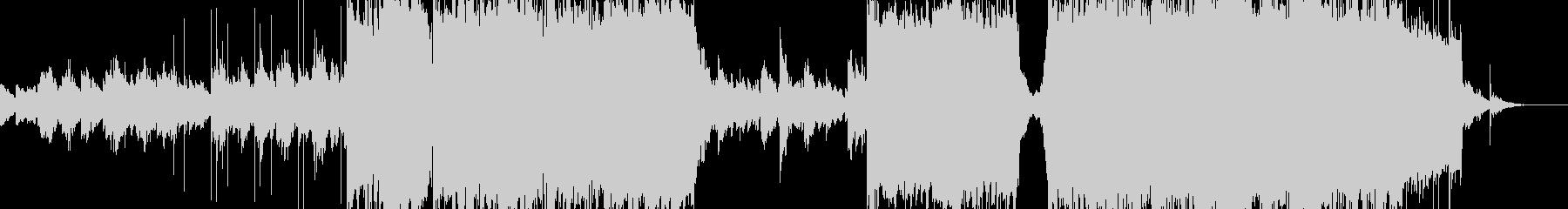 三味線とピアノの織り成す和楽と洋楽の融合の未再生の波形