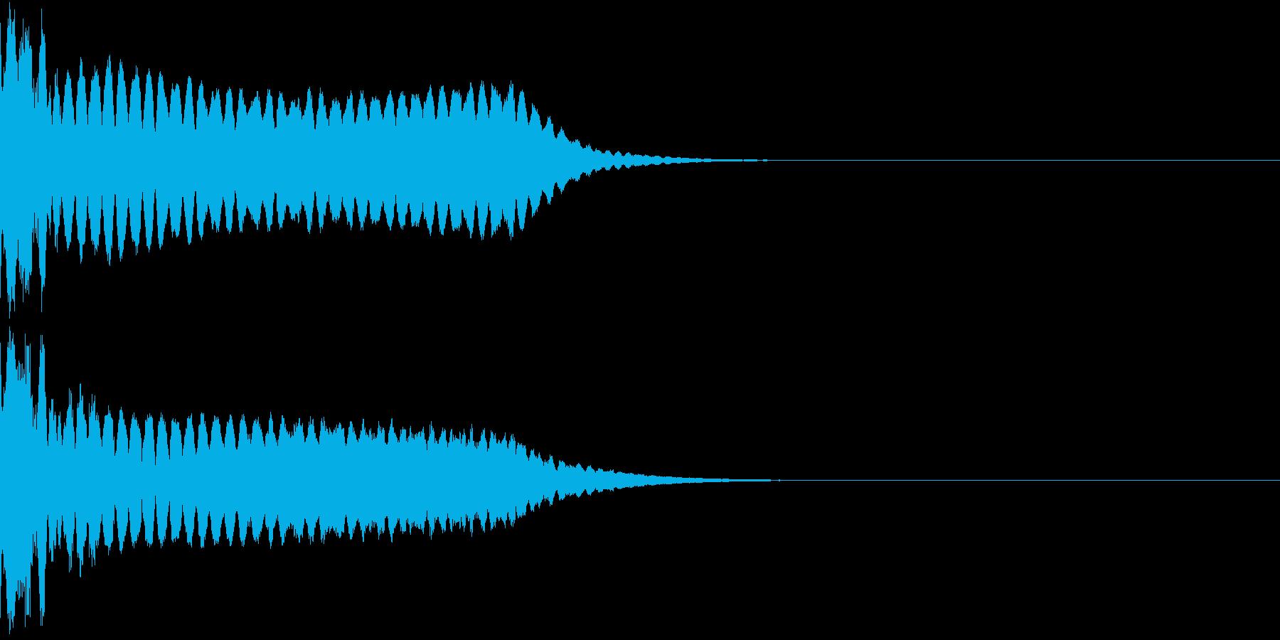 キュイン ボタン ピキーン キーン 31の再生済みの波形