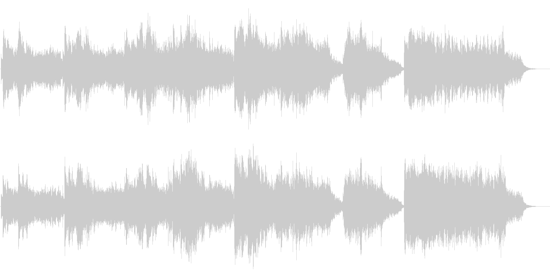 幻想的光のイメージ ピアノとシンセの未再生の波形