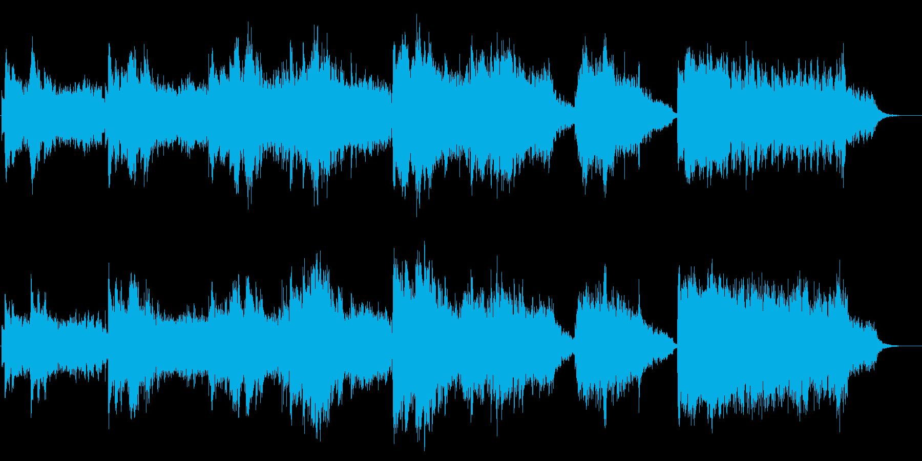 幻想的光のイメージ ピアノとシンセの再生済みの波形