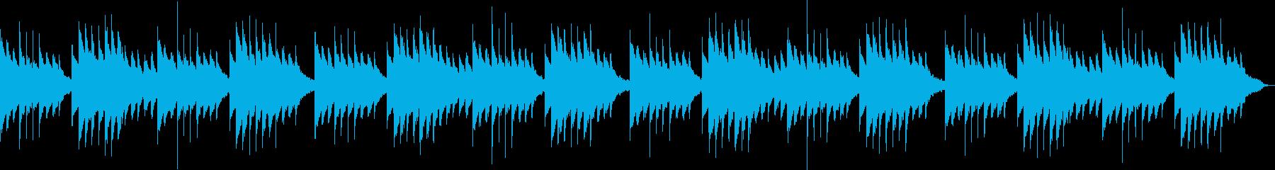 ほのぼのしたオルゴールとハープの再生済みの波形