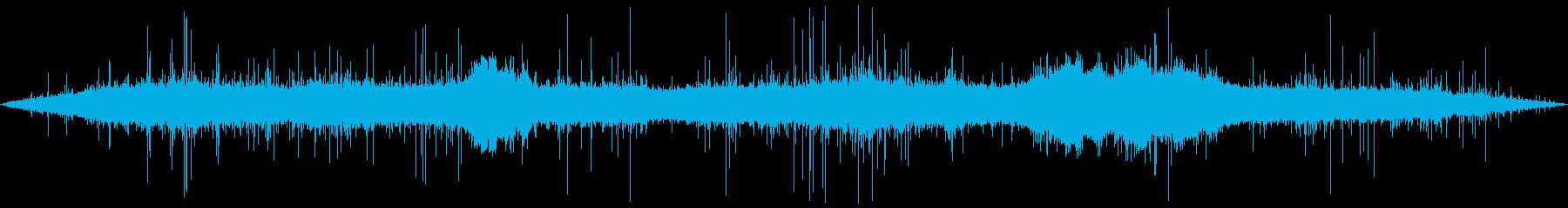 ゲリラ豪雨(バイノーラル録音)の再生済みの波形