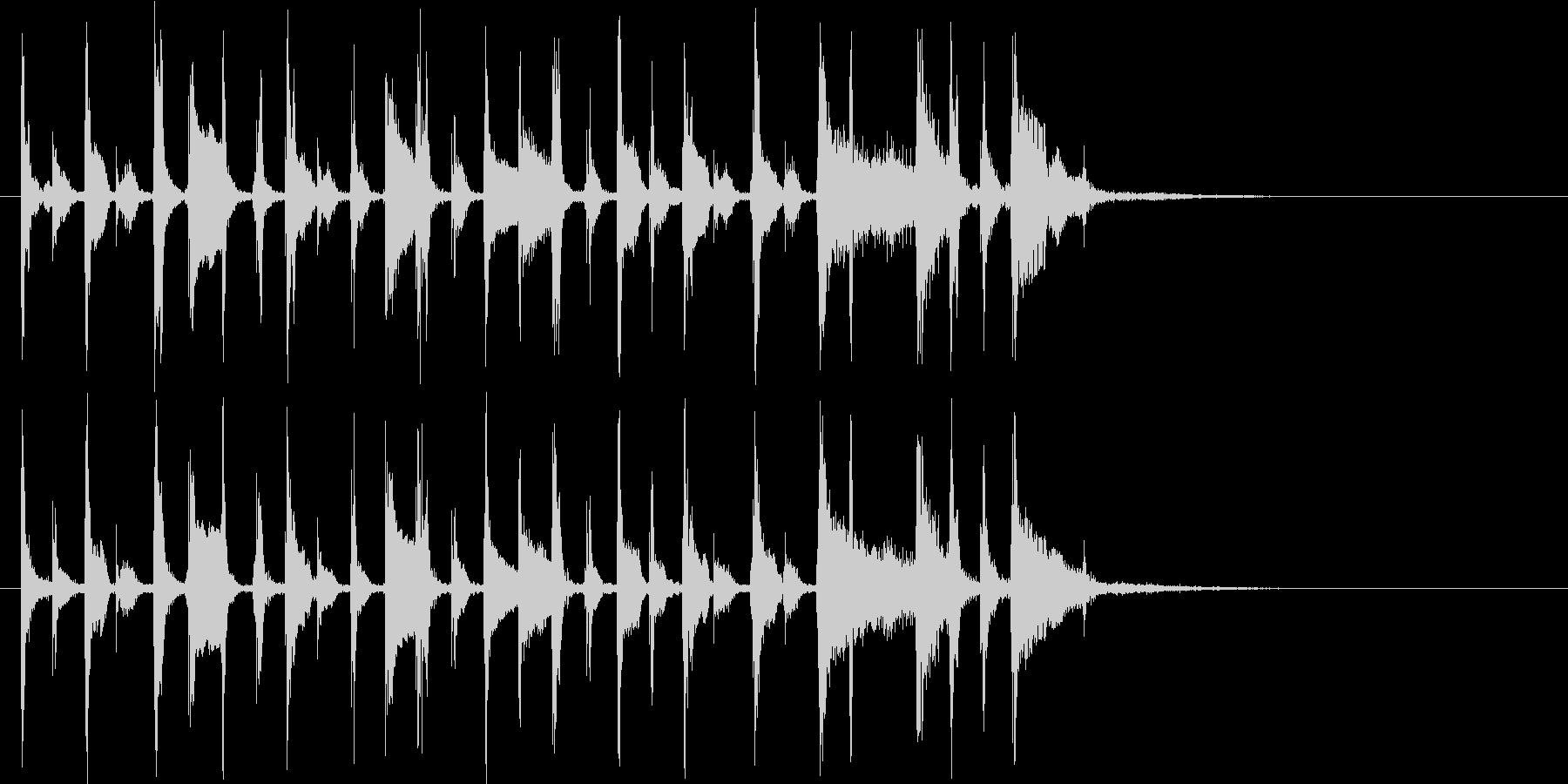 ギターメインの都会的なジングルの未再生の波形