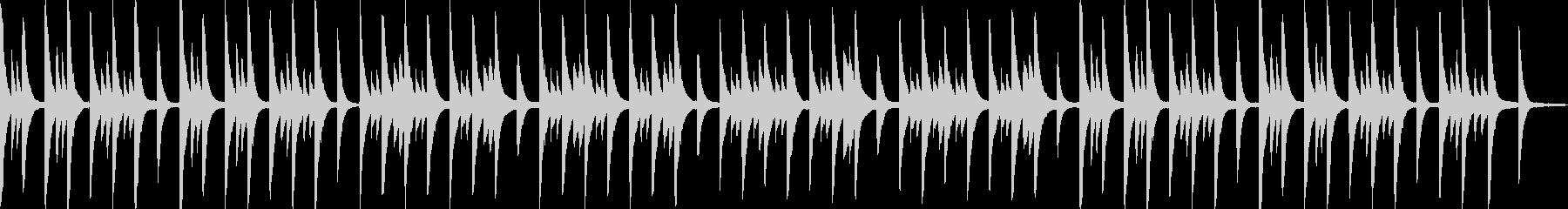 寂しげなピアノアンビエントの未再生の波形