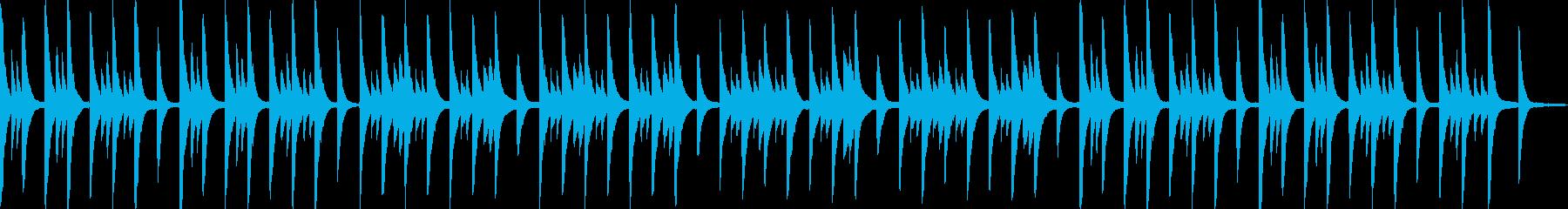 寂しげなピアノアンビエントの再生済みの波形