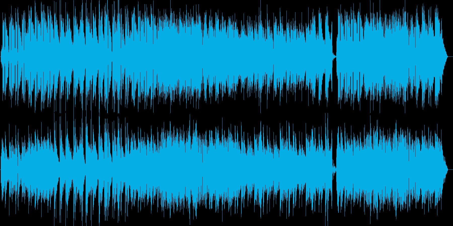 爽やか優しいピアノ・シンセなどのサウンドの再生済みの波形