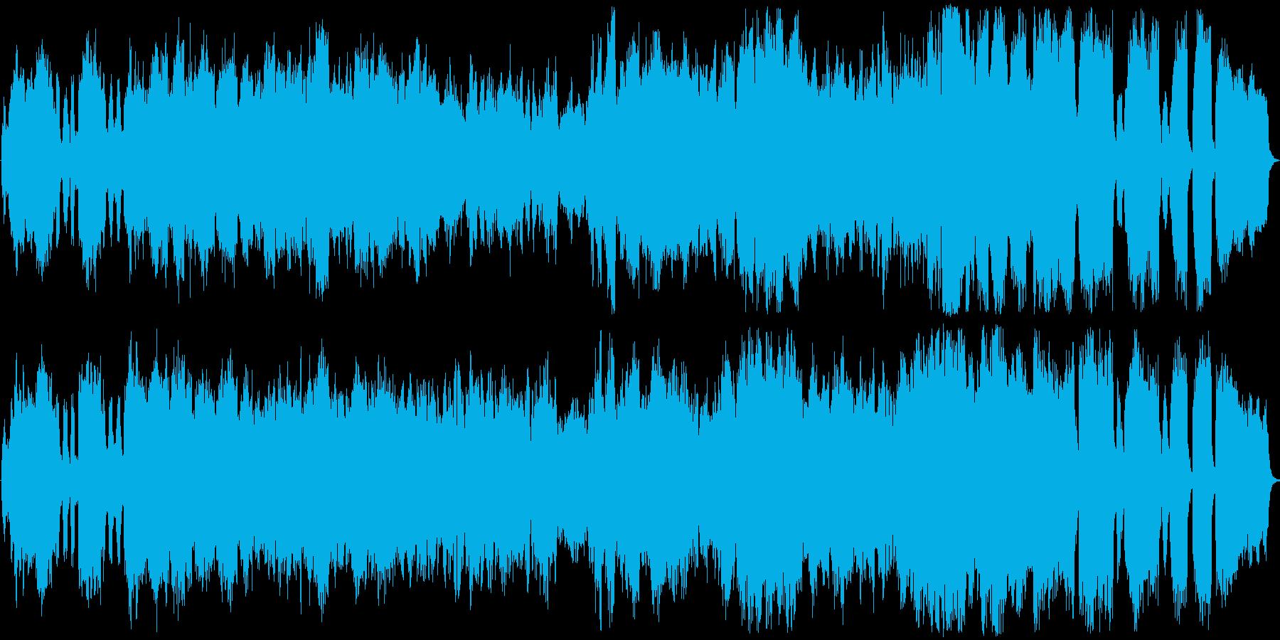 ドラマチックな映画音楽向きの弦楽作品の再生済みの波形