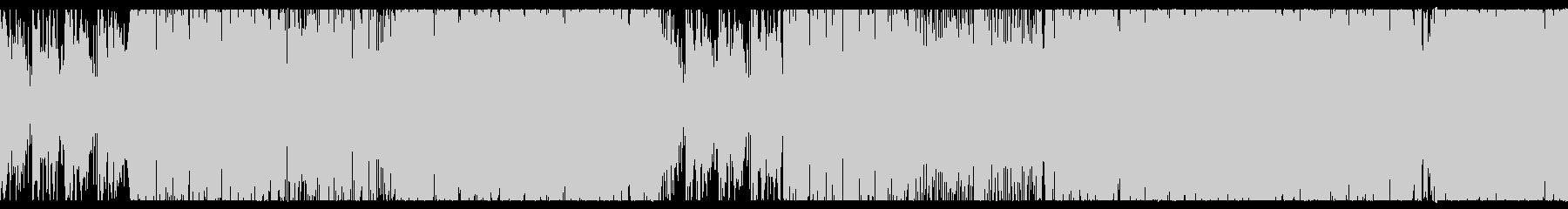 リズムの良い明るいエレクトロサウンド、Lの未再生の波形