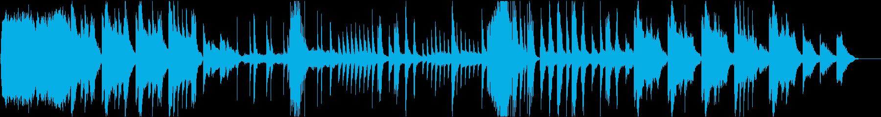 瞑想的な日本風のインストの再生済みの波形