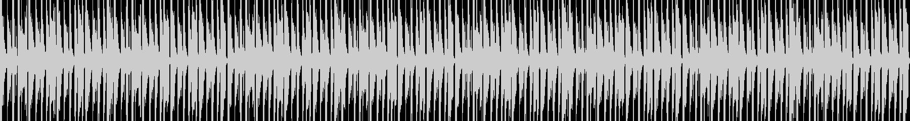 軽快なギターのBGMの未再生の波形