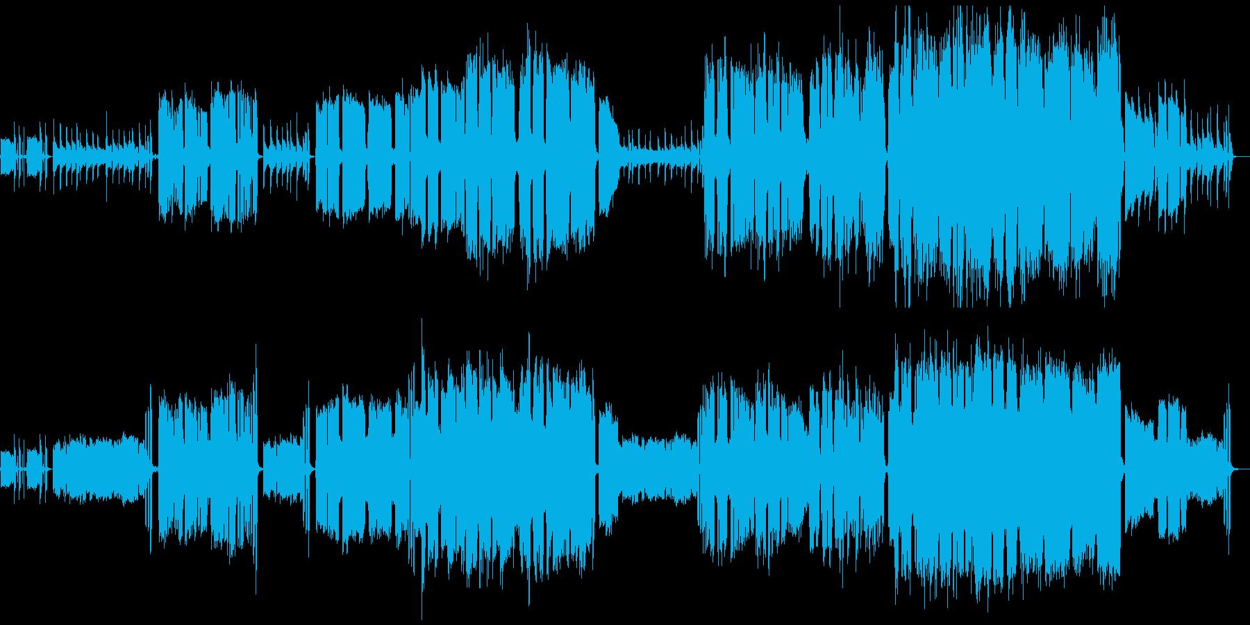 男性ボーカル2人とアコギとエレキの生演奏の再生済みの波形