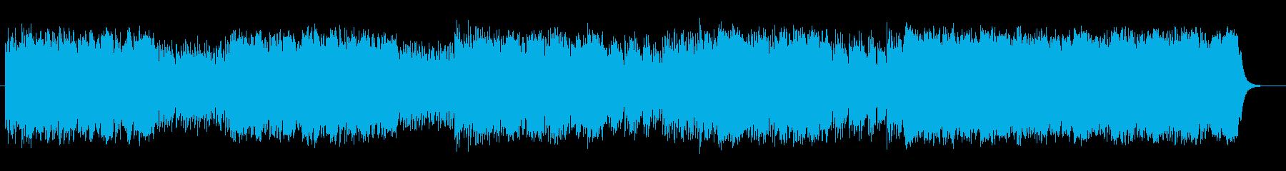 ダイナミックで神秘的なメロディの楽曲の再生済みの波形