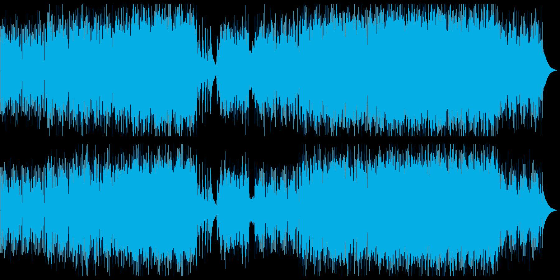 渋めのオリエンタルな雰囲気の楽曲の再生済みの波形