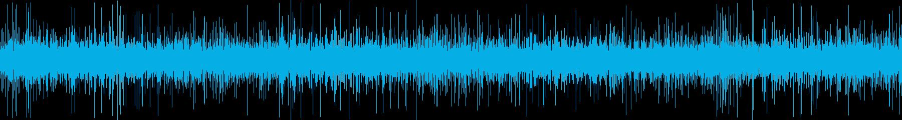 さらさらと川の流れる音の再生済みの波形