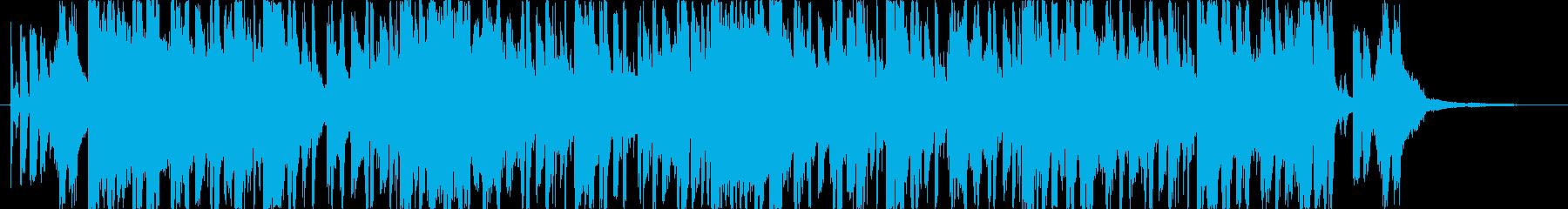 哀愁的な雰囲気を持った楽曲の再生済みの波形