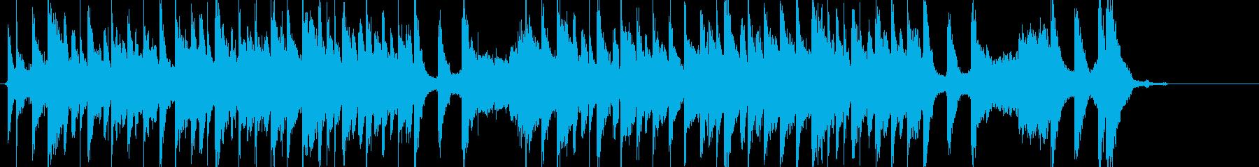 爽やかで明るくノリの良い25秒ジングルの再生済みの波形