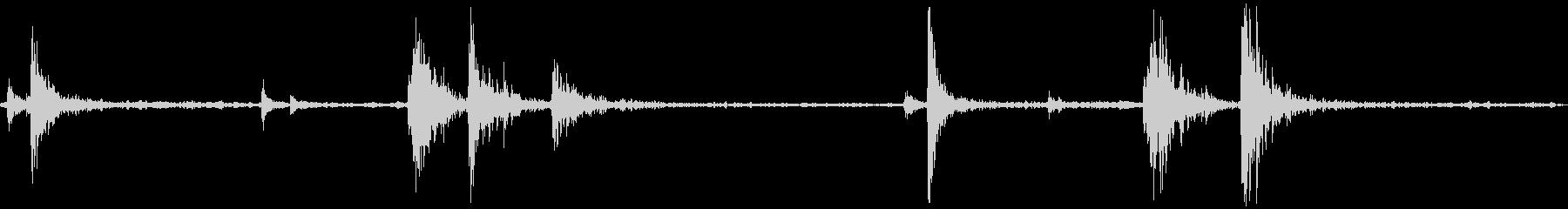 ドアオーブンの未再生の波形