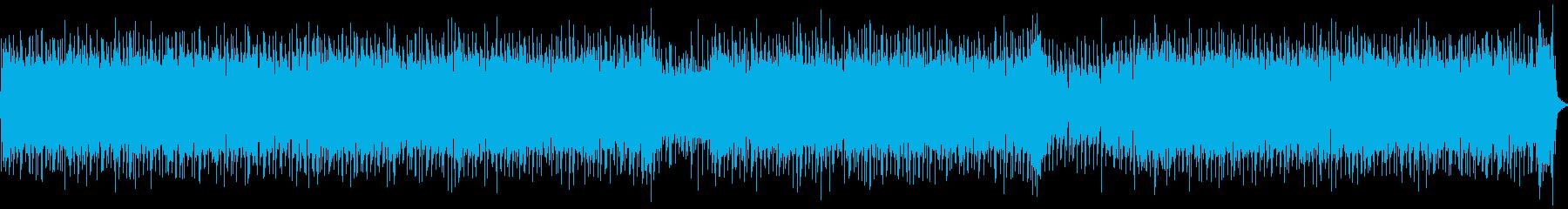 シャッフルビートのロックなリフの再生済みの波形