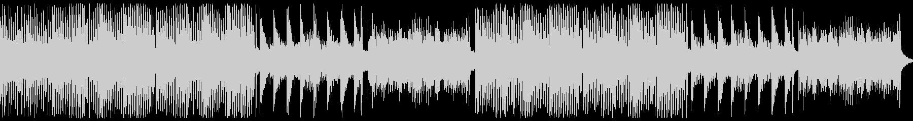 ピアノのホラー曲。3拍子の未再生の波形