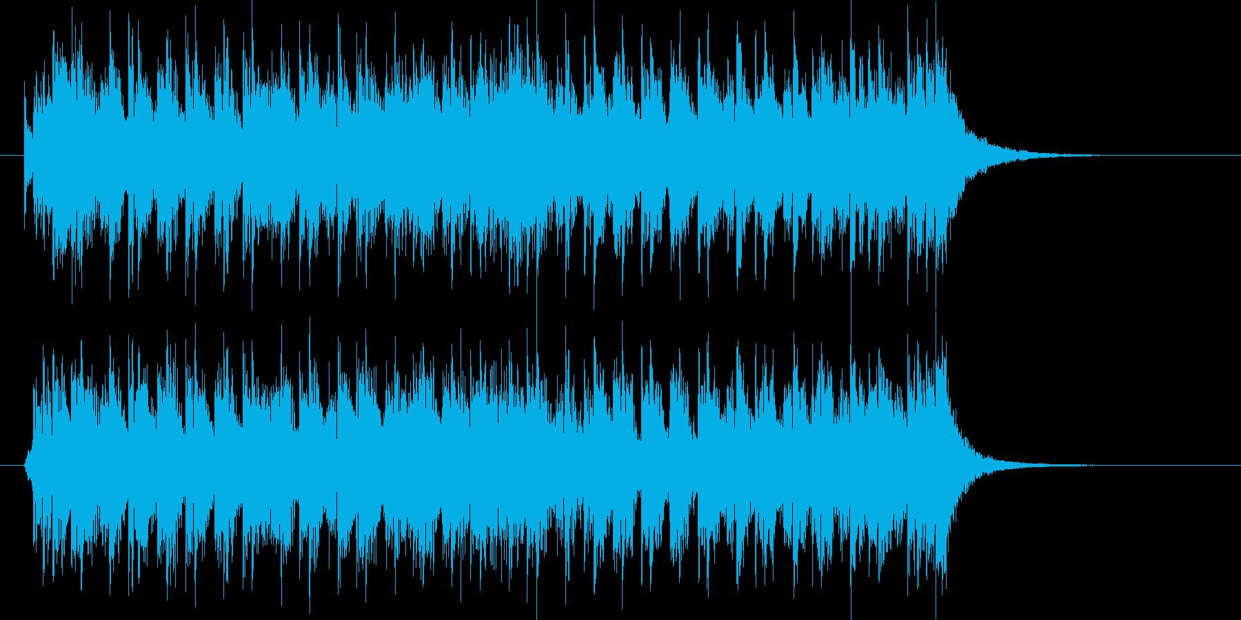 元気で明るいシンセポップジングルの再生済みの波形