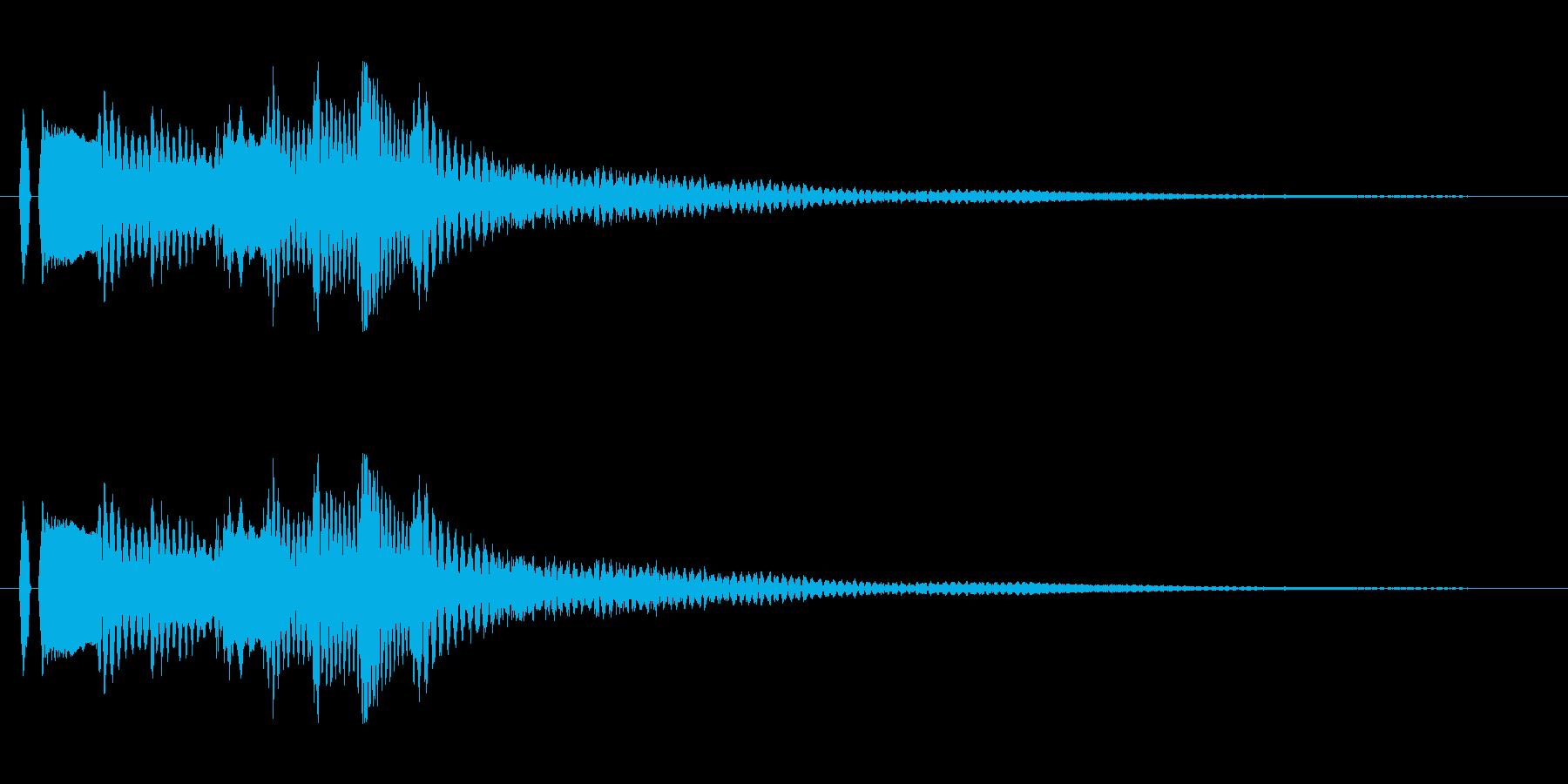 ピアノ。タララランの再生済みの波形