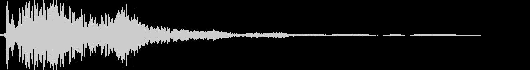 パンッ(衝撃音)の未再生の波形