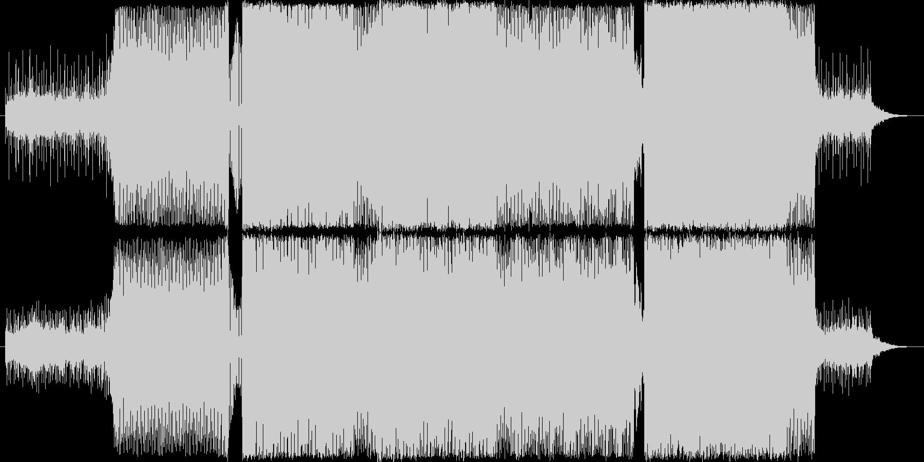 爽やかな感動系EDM×ストリングスの未再生の波形