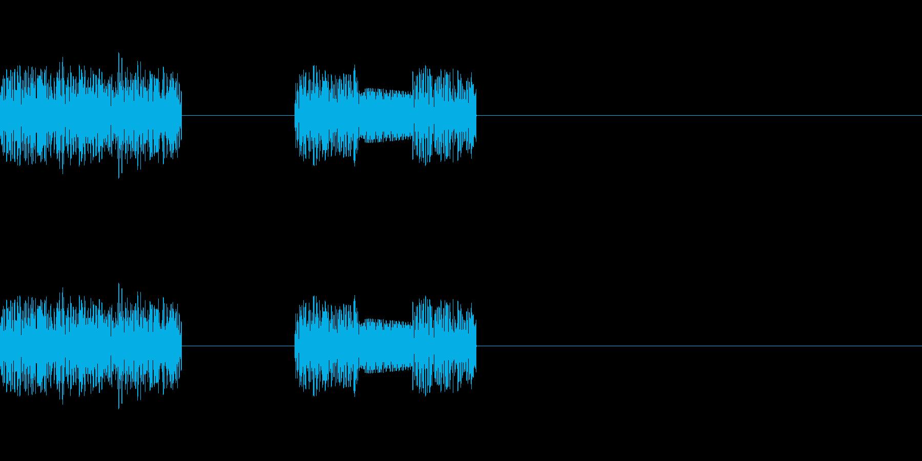 「ザッザッ」レトロゲーム風二回攻撃の再生済みの波形