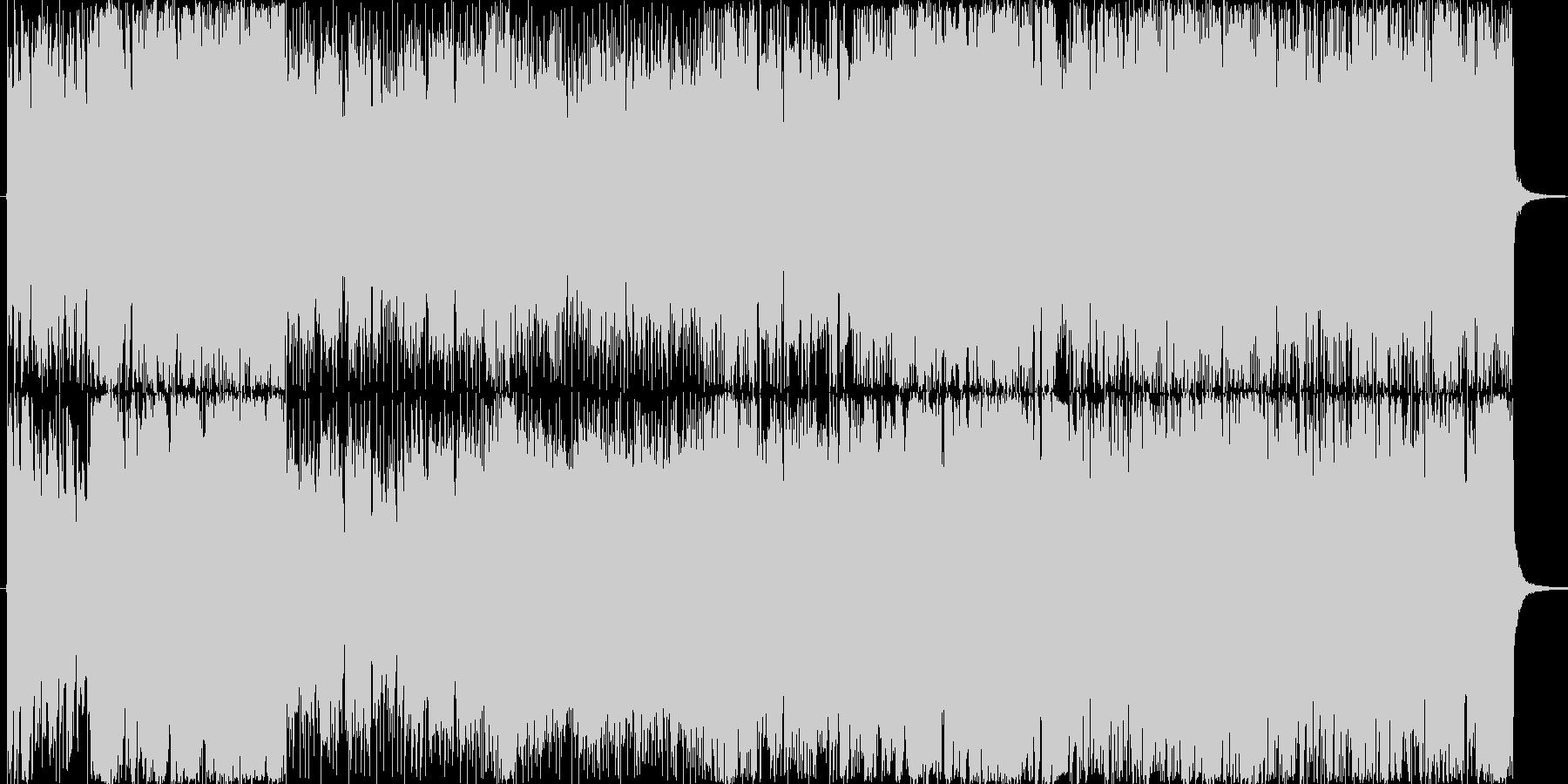ノリノリなロック・ポップの未再生の波形