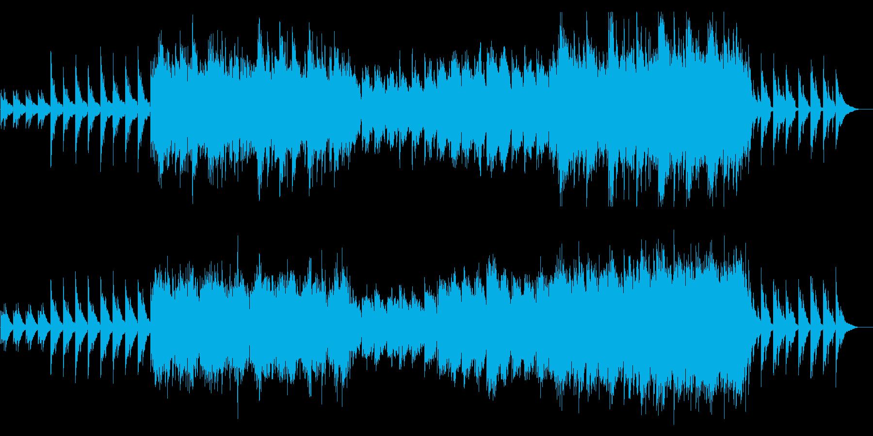 水鏡 幻想的 ピアノとストリングスの再生済みの波形