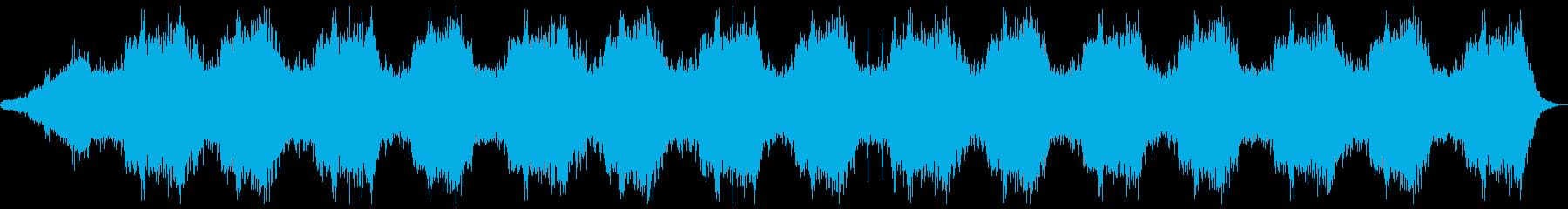 ホラー向け幻想的なBGMの再生済みの波形