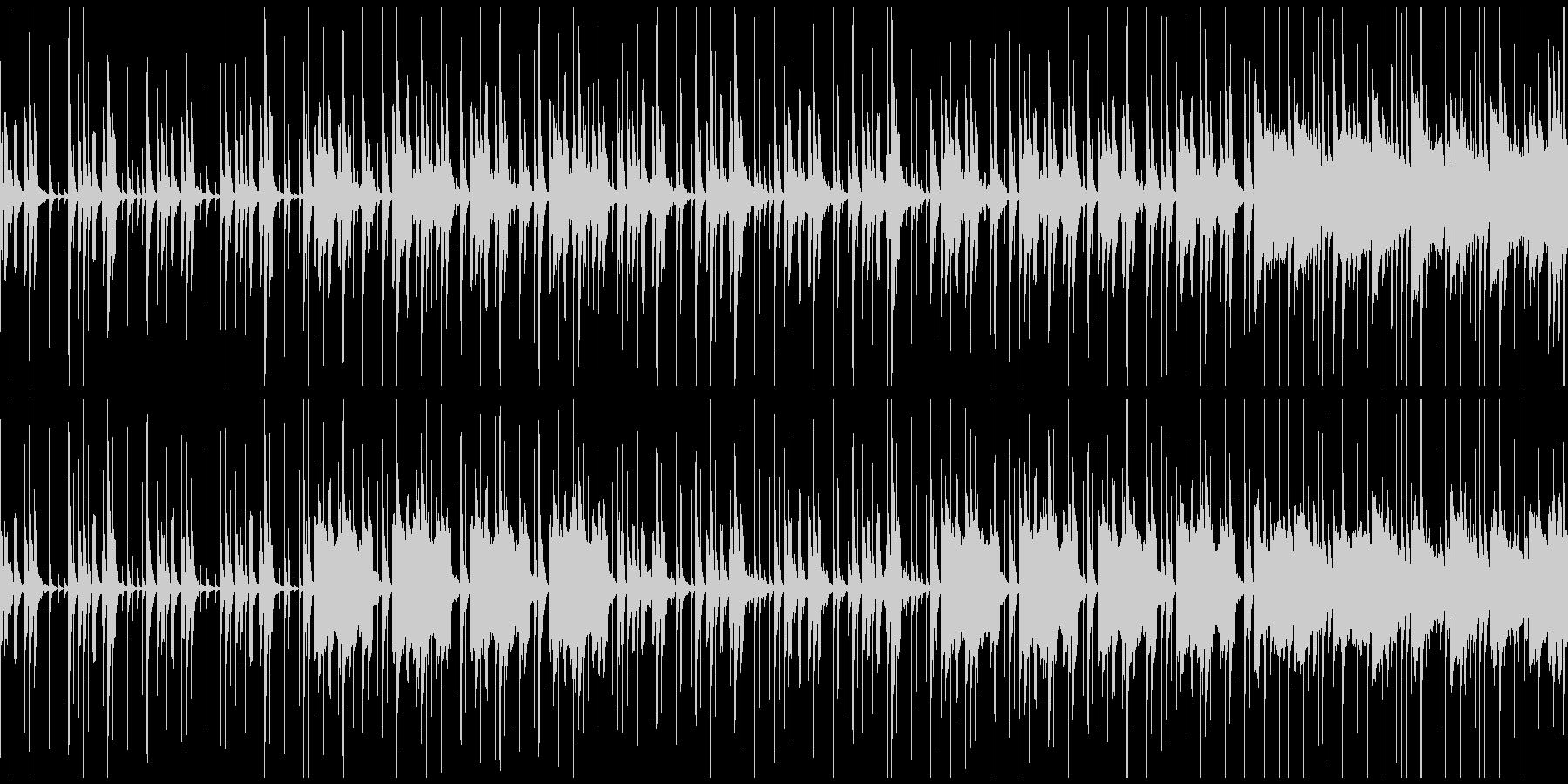ほのぼの・軽快なBGM(ループ)の未再生の波形