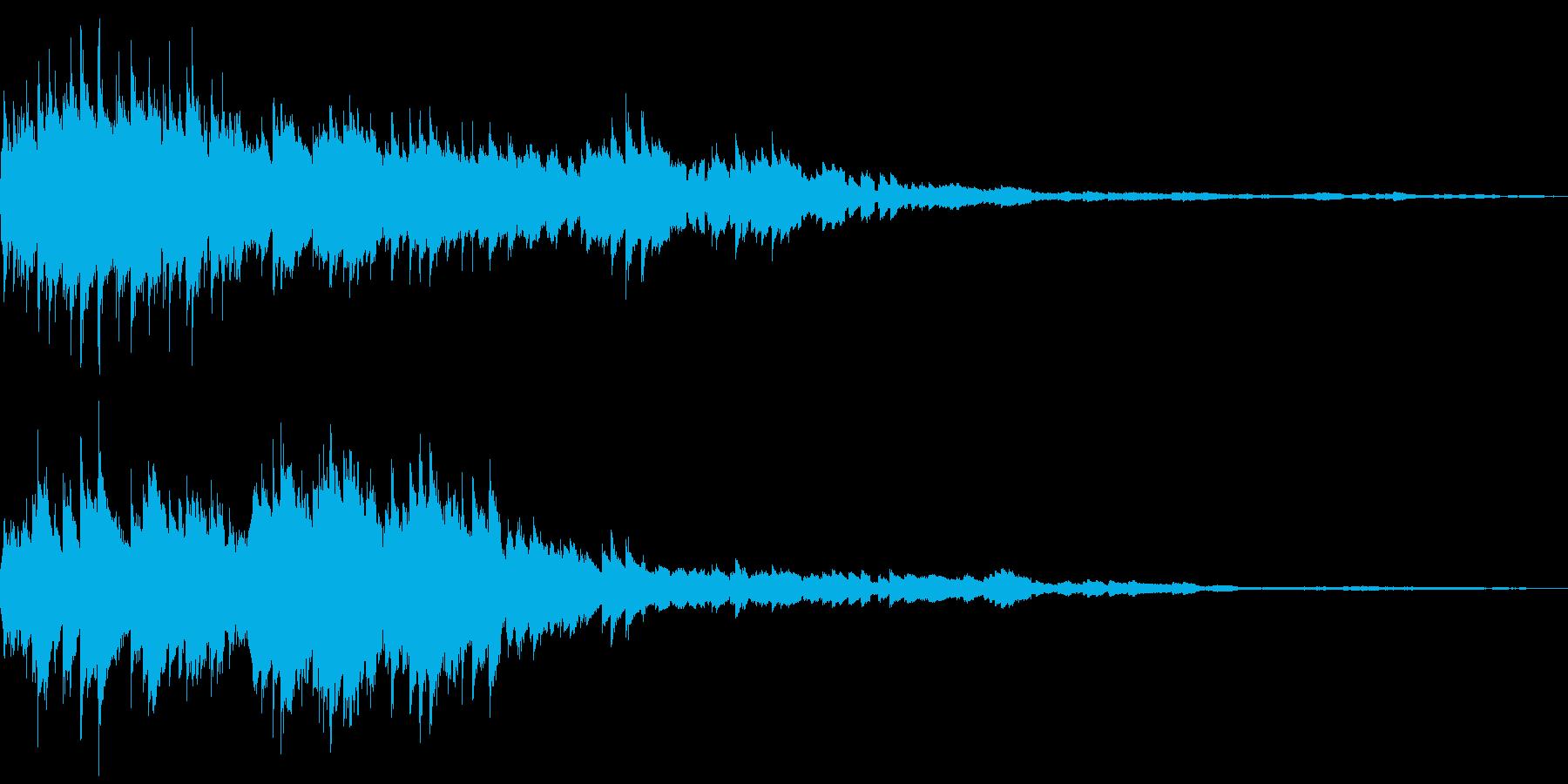 コロコロ(金属の玉を転がす音)の再生済みの波形