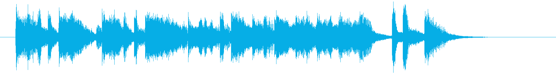 伸びやかなトランペットが印象的なBGMの再生済みの波形