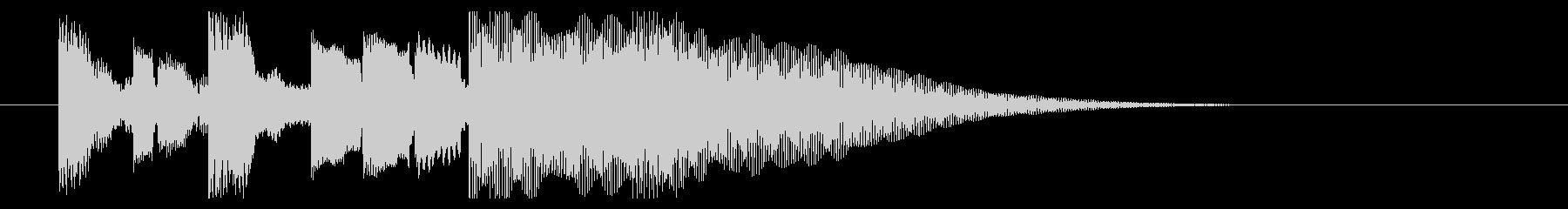 サウンドロゴ、ジングル#6の未再生の波形