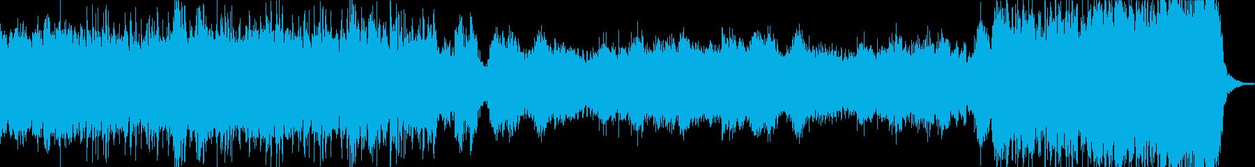 スペクタルホラー映画の壮大なイメージの再生済みの波形