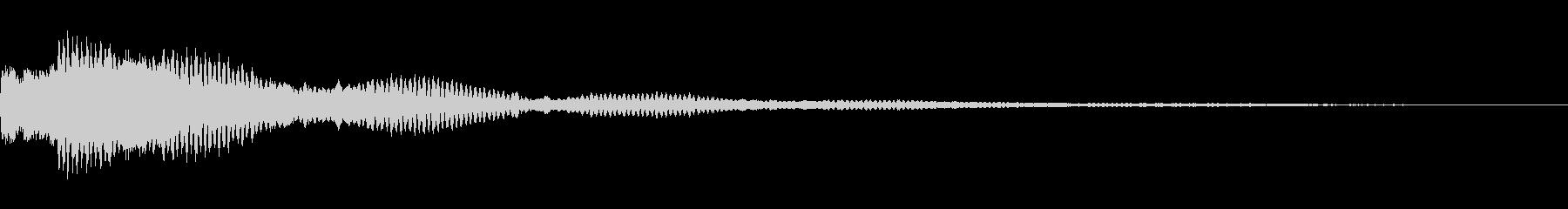 ボタン操作 クイズ ゲーム ピコーン の未再生の波形