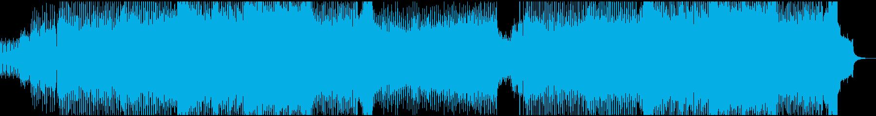 重厚感のあるオーケストラ調のテクノの再生済みの波形