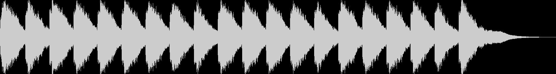 ガラーン・ガラーン…(大聖堂・教会の鐘)の未再生の波形