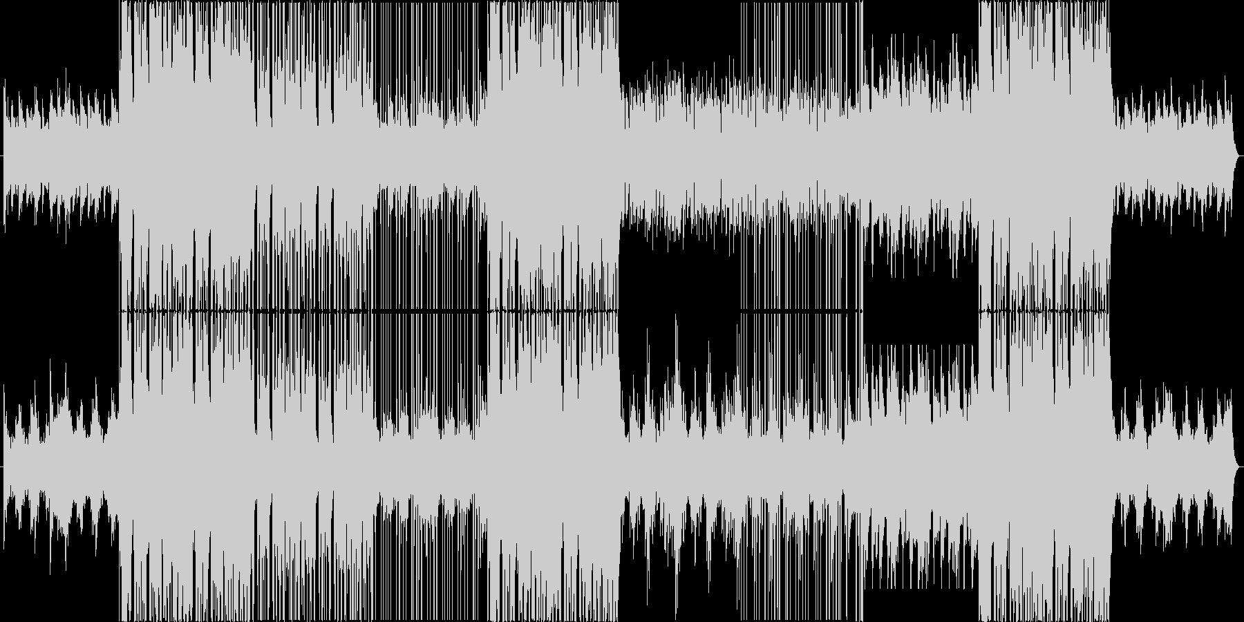 モダンな洋楽風 Trap Popの未再生の波形