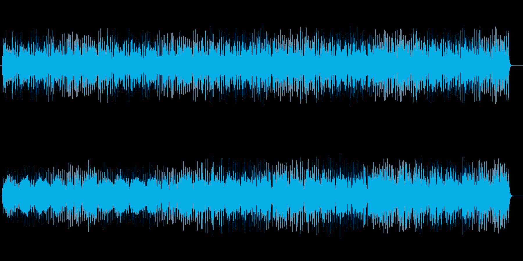 シンセサイザーの落ち着いたポップスの再生済みの波形