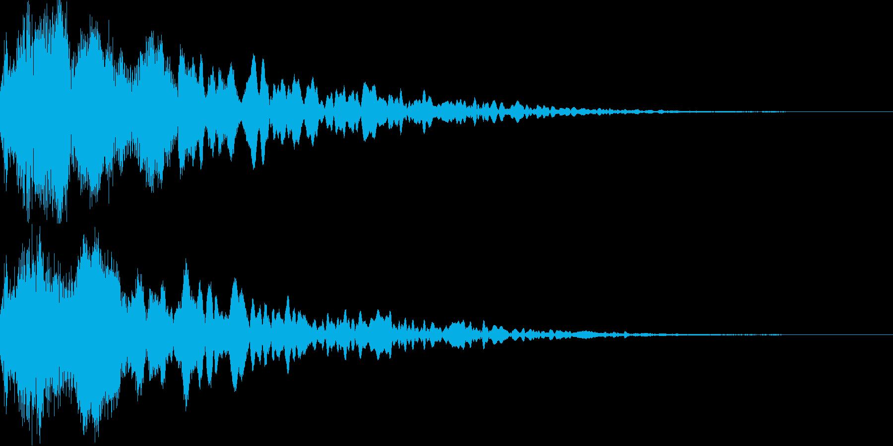 シャキーン!(ガキーン!)インパクト音の再生済みの波形
