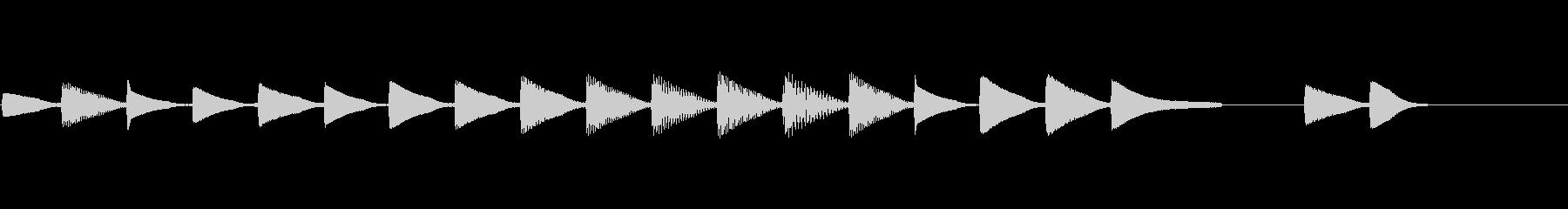 共鳴する秋のビープ音シーケンスの未再生の波形