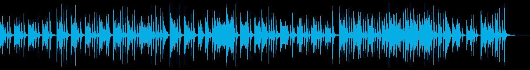 優しく可愛いピアノのワルツ の再生済みの波形