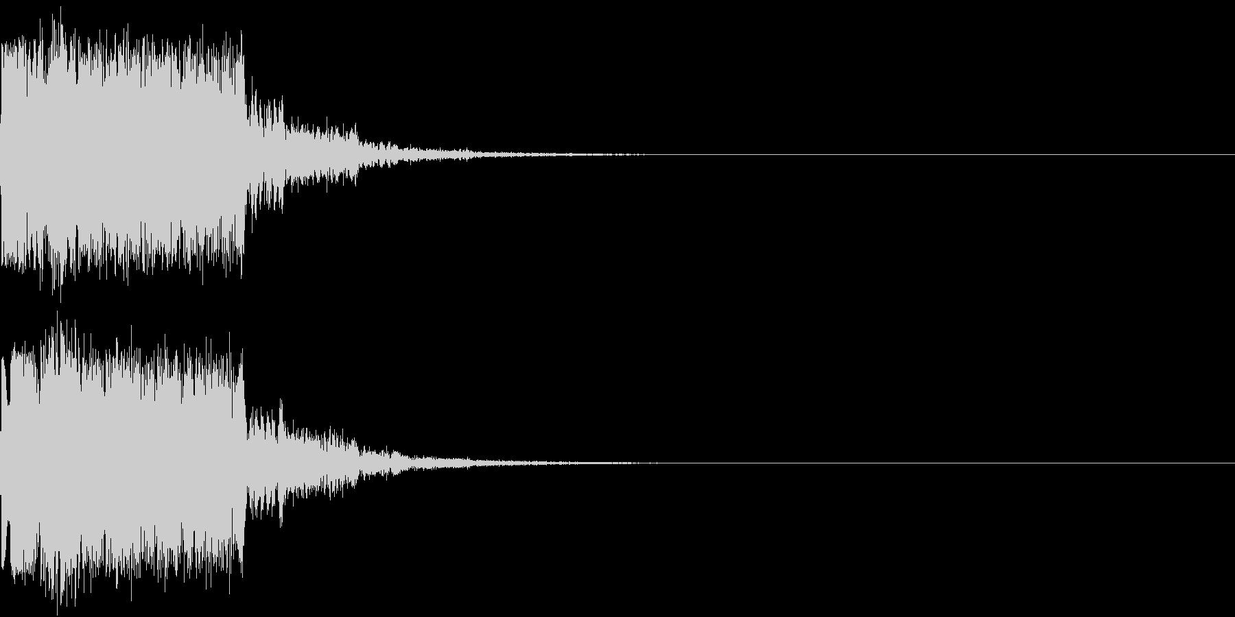 ギュイーン 重め ギューン 光る 019の未再生の波形