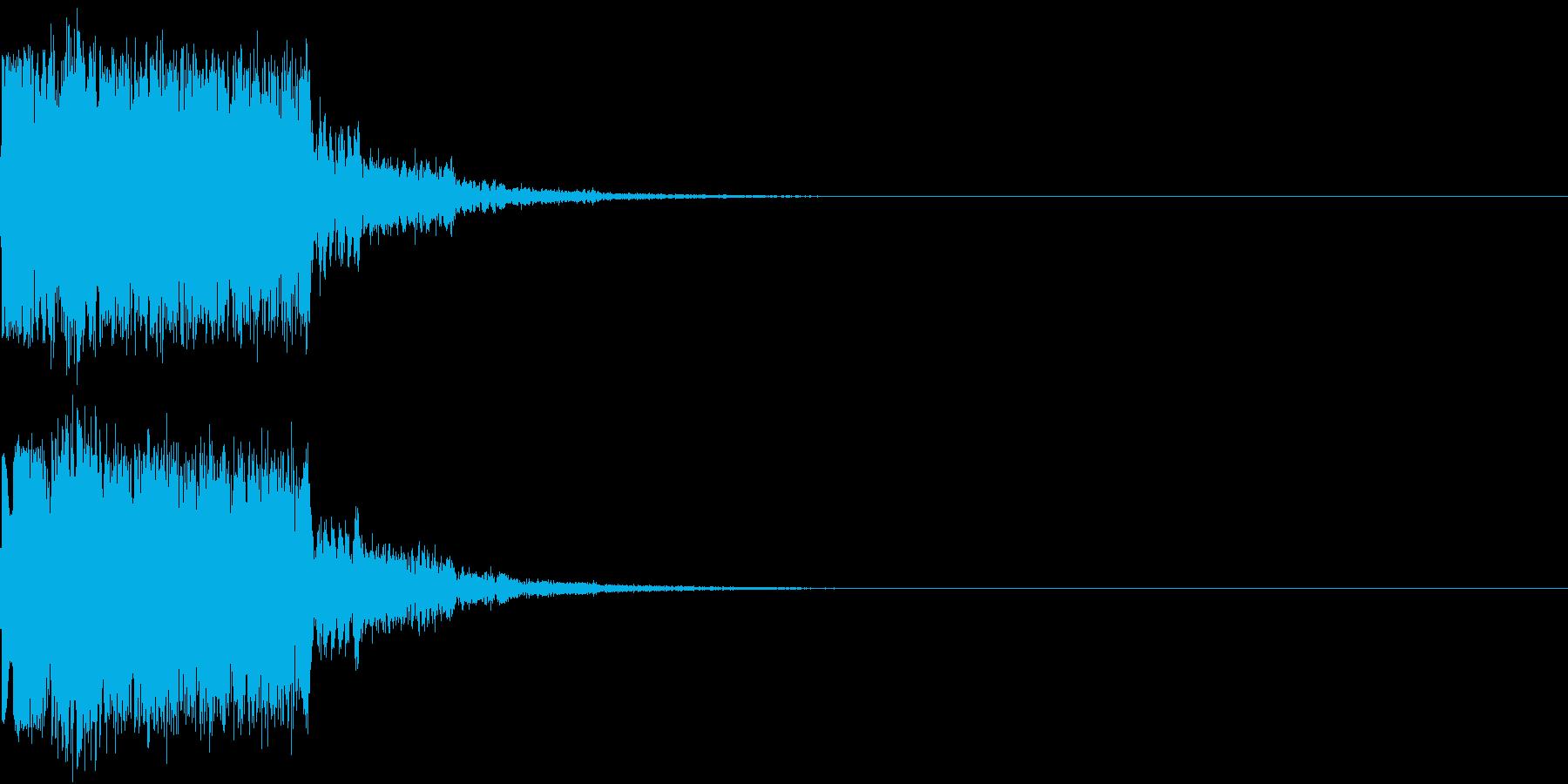 ギュイーン 重め ギューン 光る 019の再生済みの波形