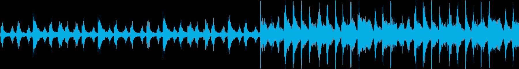 使い勝手のいいファンキーなドラムループの再生済みの波形